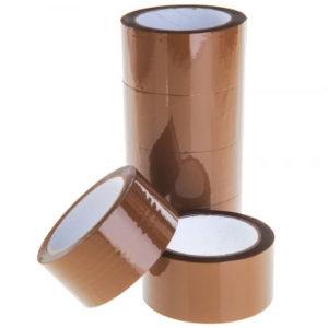 Páska lepící BOPP 48mm/66m HNĚDÁ AKRYL